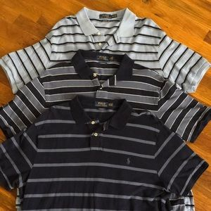 Bundle of 3 Ralph Lauren Polo Men's Shirts XXL